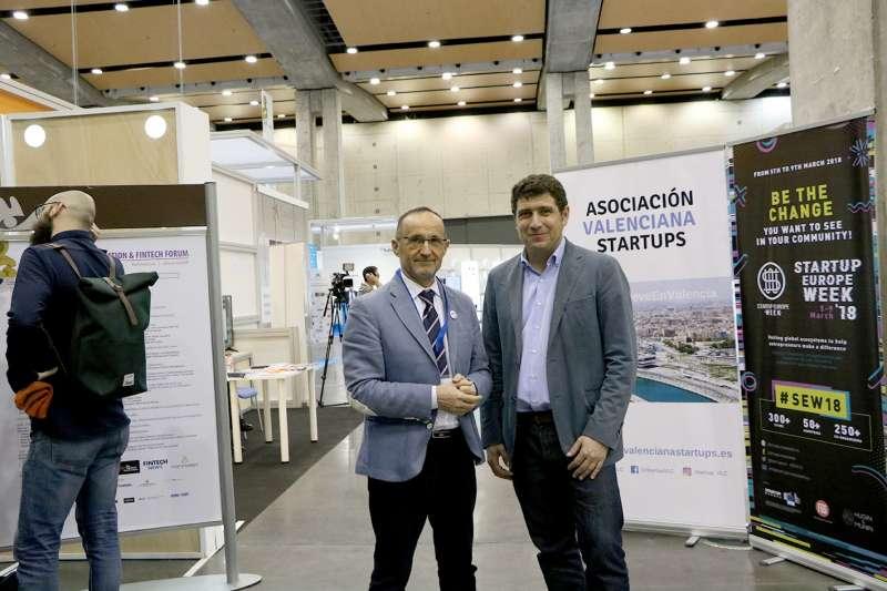 El diputado provincial Bartolomé Nofuentes junto a Nacho Mas, CEO de la Asociación Valenciana de Startups