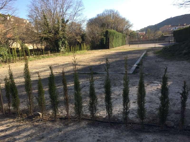 Zona donde se instalará la pista de pádel