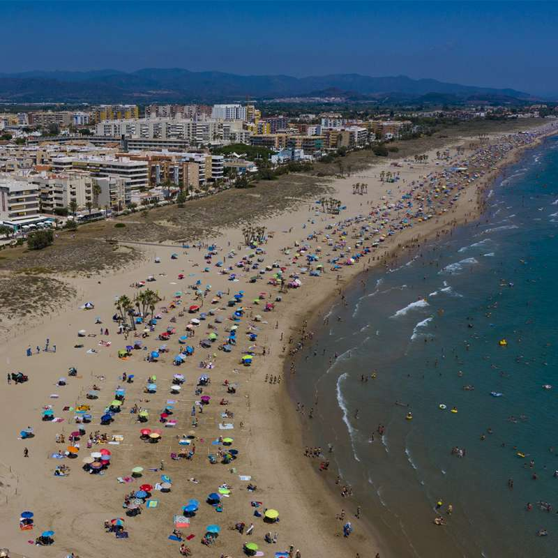 Playa de Canet, vista por un dron