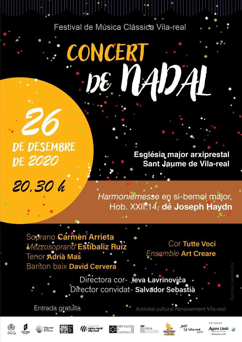 Cartel concierto de navidad Vila-real / EPDA