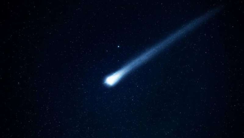 Imagen de archivo de un meteorito
