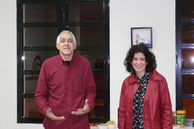 Meluca Redón con su presentador Antonio Aznar