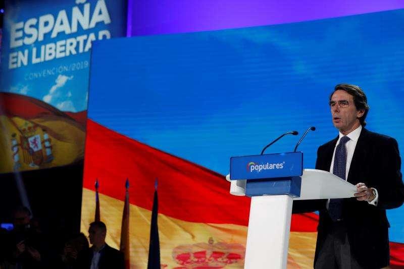 El expresidente del Gobierno José María Aznar. EFE/Archivo