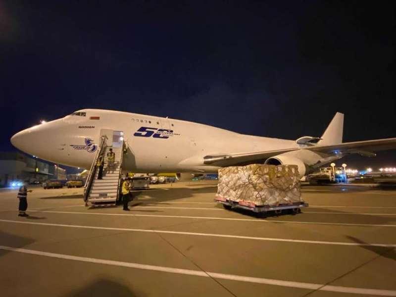 Imagen del avión fletado por la Generalitat, en una imagen facilitada por la institución.