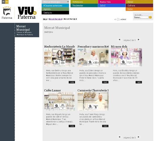 Carteles de los diferentes puestos en la web. FOTO: EPDA