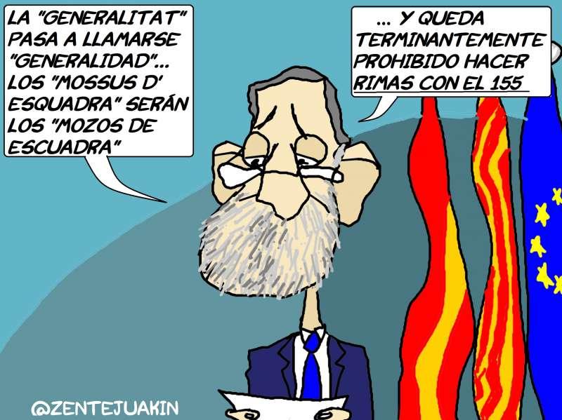Viñeta publicada en Elperiodicodeaqui.com, el Periódico de Cataluña no, el de la Comunitat Valenciana.