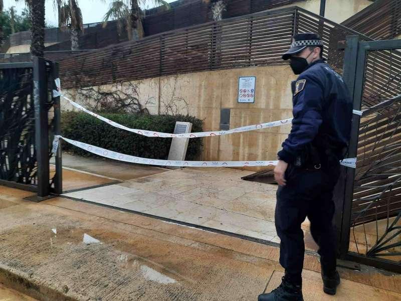 Actuación policial en la Ereta
