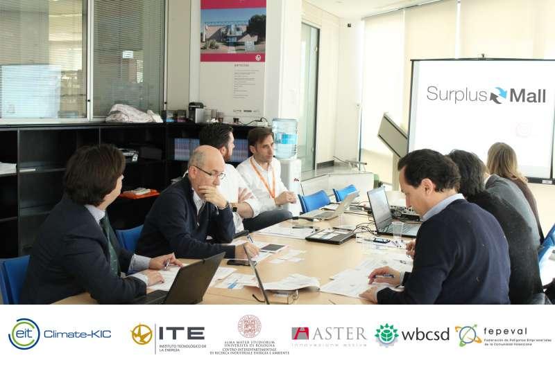 Respresentantes de las entidades empresariales en la reunión del proyecto.