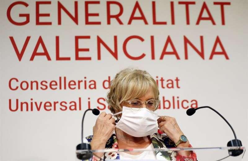 La consellera de Sanidad, Ana Barceló, durante una rueda de prensa en una imagen de archivo. EFE