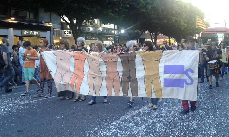 Una de las pancartas de la manifestación