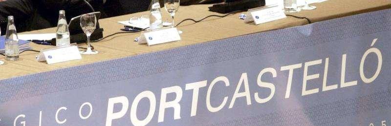 Cartel con la marca PortCastelló. EFE/Archivo
