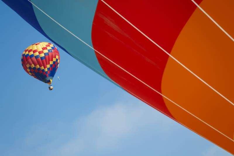 Imagen de dos globos aerostáticos. EFE/Archivo