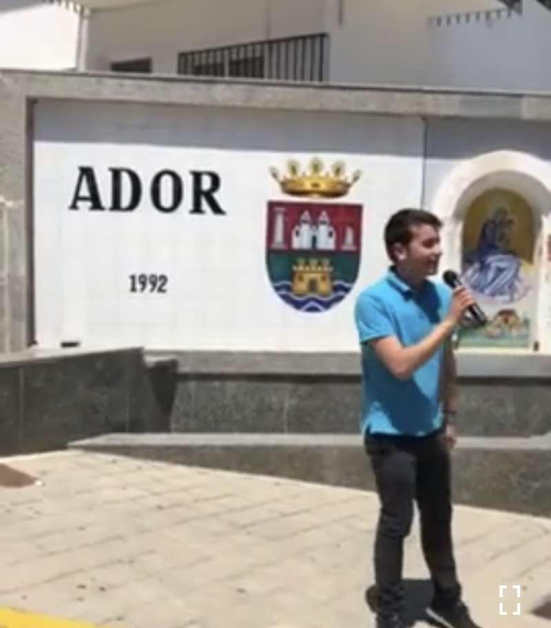 Kike Celda, en Ador.