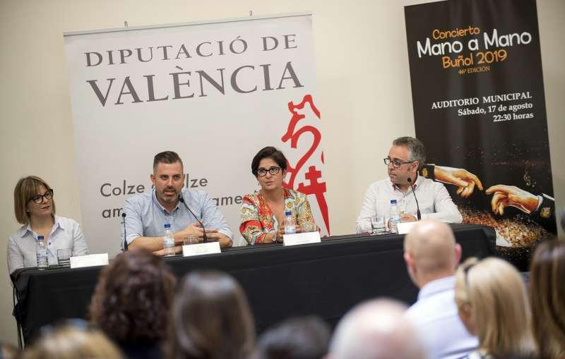 Jordi Mayor en su primer acto como diputado de Bandas de Música. EPDA
