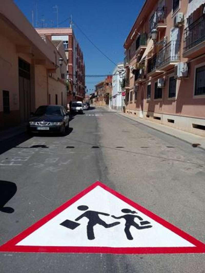 Un dels camins escolars segurs. EPDA