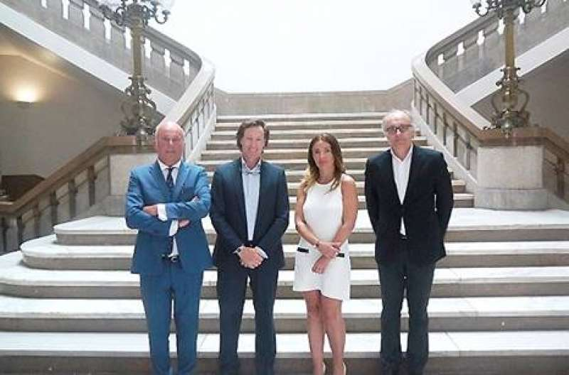 Vicente Ripoll ( U.V), Juan Luis Blat ( ASSET ), Merche Barrachina ( U.V), Luis Calaf (ASSET)