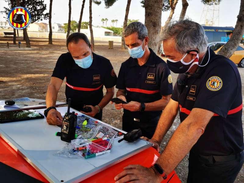 Imagen facilitada por el Consorcio de Bomberos de València.