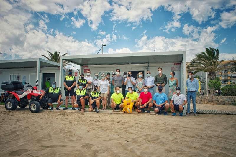 Visita al puesto de salvamento y socorrismo de la playa del Port de Sagunt.