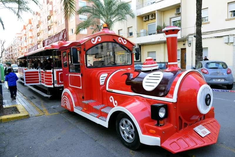 El tren que recorrerà els carrers de Paiporta. EPDA