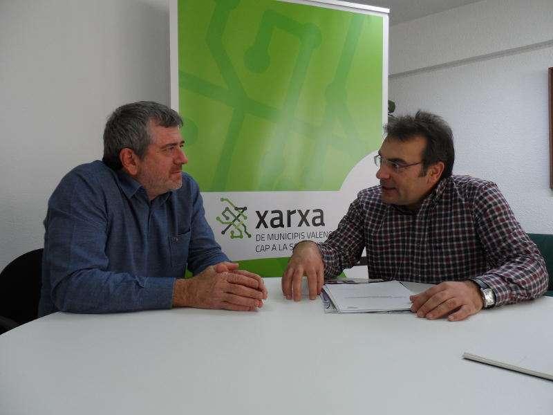 Josep Bort durant la reunió de treball mantinguda amb Juan Jesús Ramos, representant d