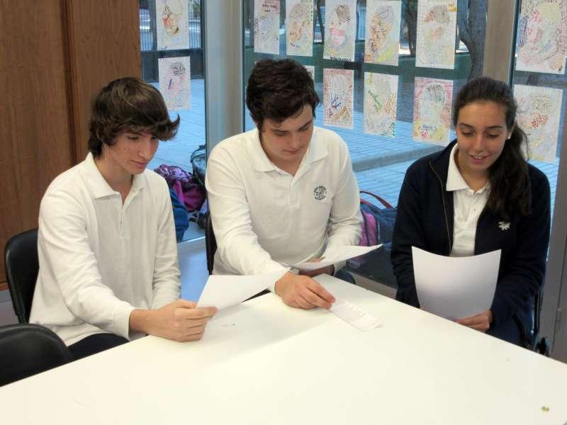 Alumnos del colegio Edelweiss.//edpa