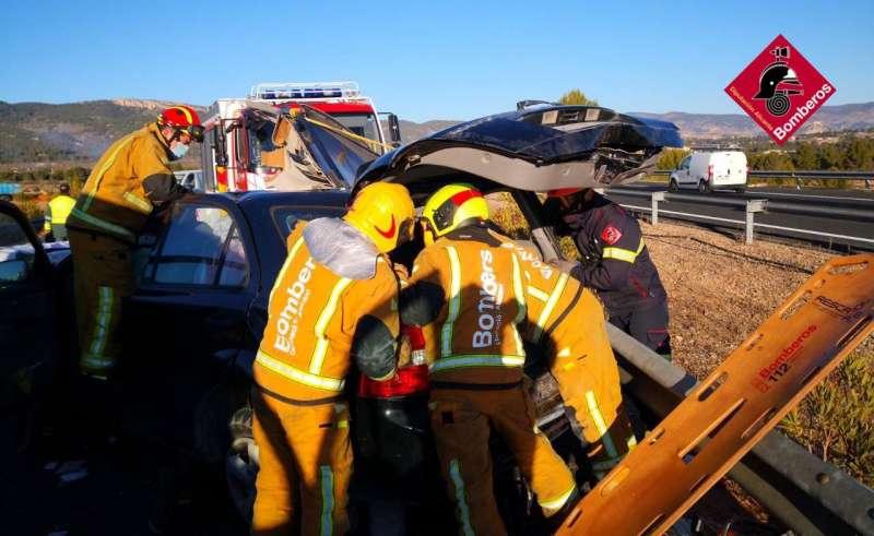 Actuación de los bomberos/EPDA