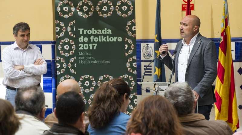 El diputat de Cultura, Xavier Rius, durant la presentació d