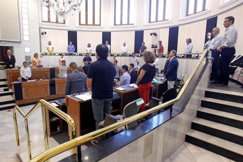 Imagen de archivo del pleno de la Diputación de Alicante. EFE