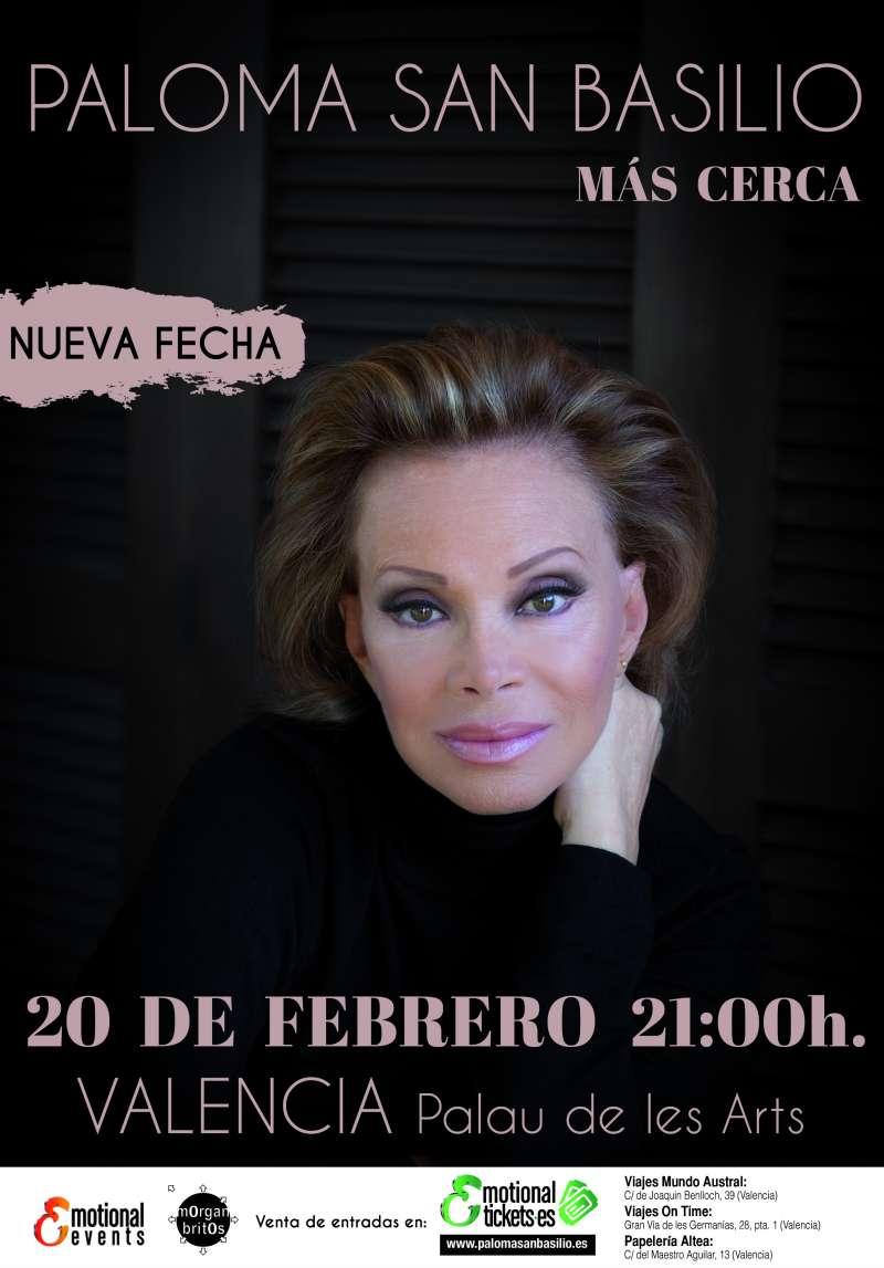 Cartel de la nueva actuación de Paloma San Basilio. EPDA