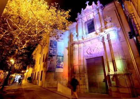 Imagen del Museo iluminado. FOTO: GVA