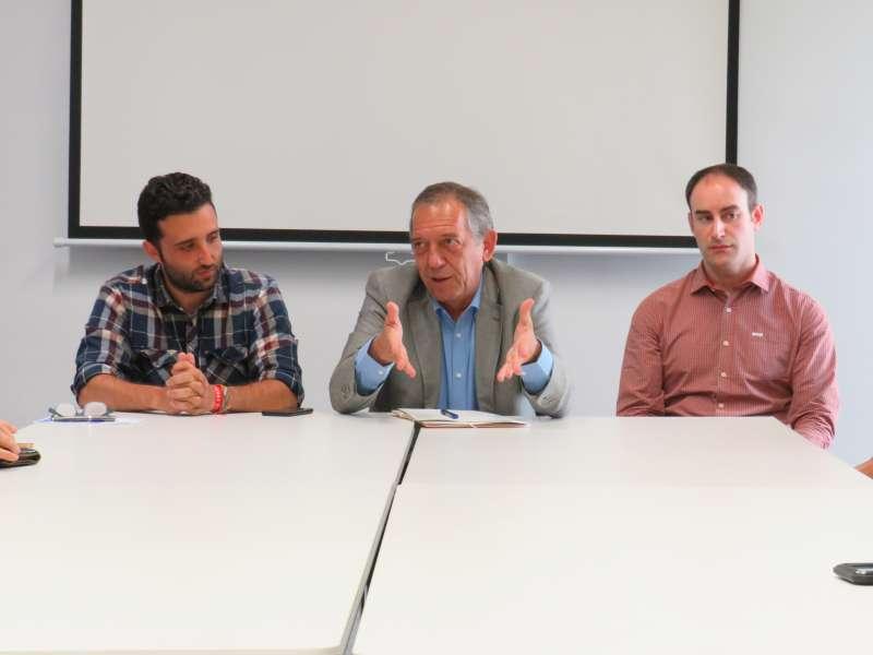De izquierda a derecha: Darío Moreno, Miguel Soler y Javier Raro. EPDA.