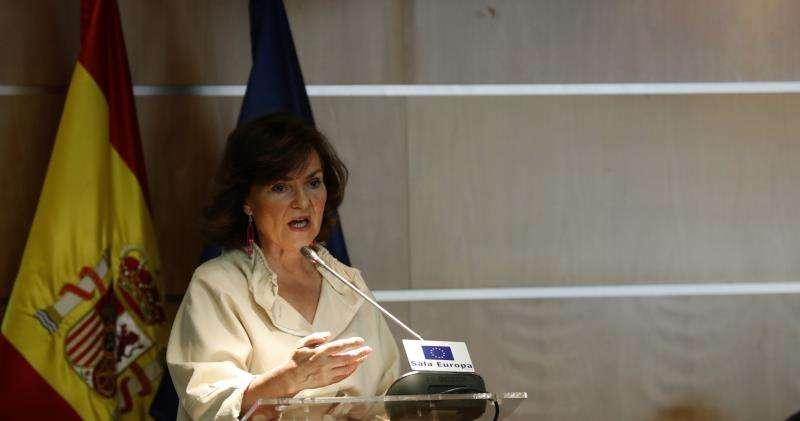 La vicepresidenta del Gobierno en funciones, Carmen Calvo. EFE/Archivo