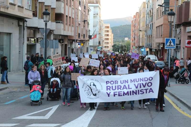 Pancarta en la cabeza de la manifestación