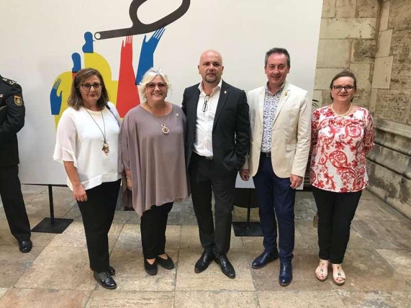 Alcaldes del PSOE en los actos