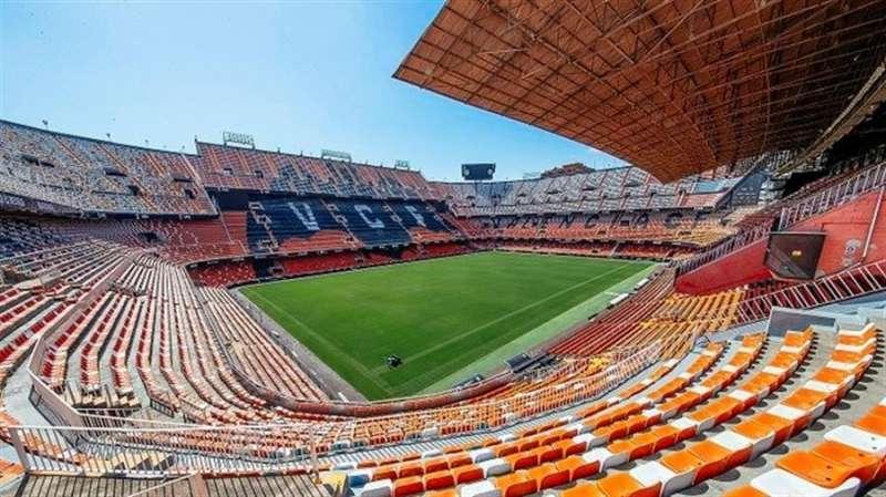 El Mestalla, esperando partidos de fútbol, en una imagen difundida por el Valencia CF./ EFE