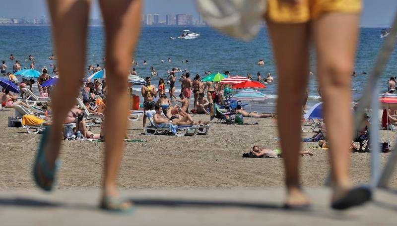 Imagen de la playa de Las Arenas de València. EFE/Archivo