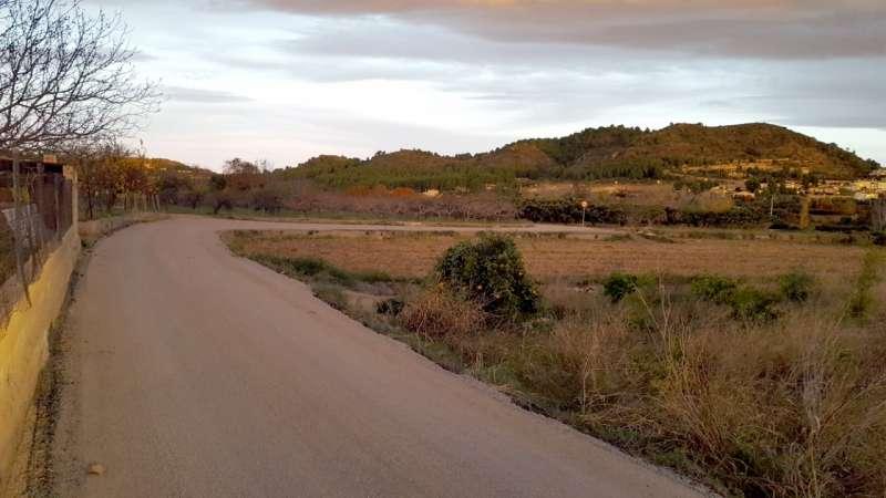 Aspecto del camino ya asfaltado