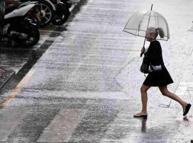 Imagen de archivo de precipitaciones. EFE