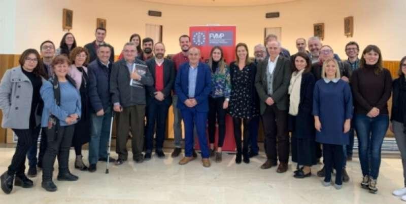 Imagen de la última reunión de la Xarxa Memòria Històrica. EPDA