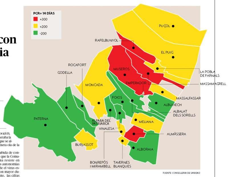 Mapa a fecha de 3 de noviembre. EPDA