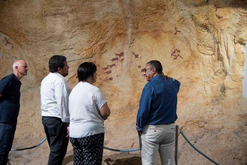 Ejemplo del arte rupestre castellonense, en una imagen difundida por la Diputación.