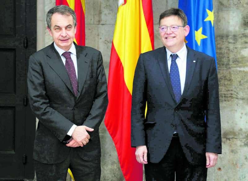 José Luis Rodríguez Zapatero y Ximo Puig en una foto de archivo. EPDA