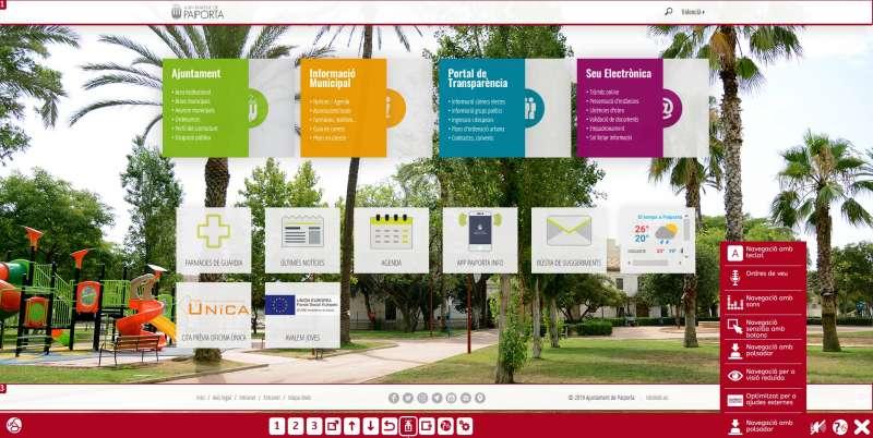 Página web del ayuntamiento de Paiporta. EPDA