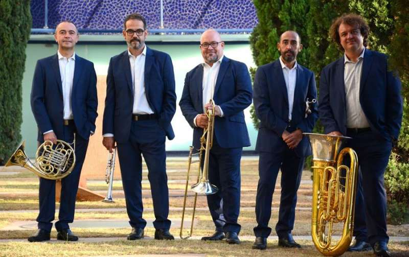 Spanish Brass, en una imagen compartida por la formación en redes sociales. efe