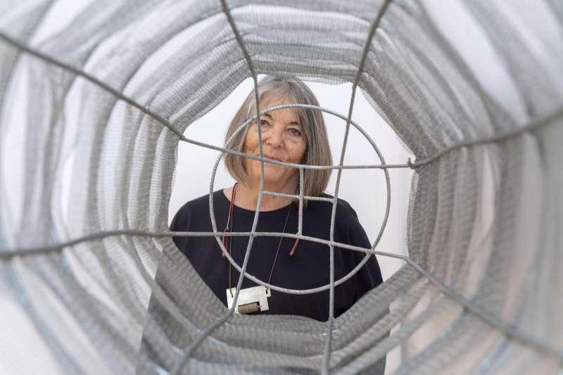 Susana Solano en su exposición