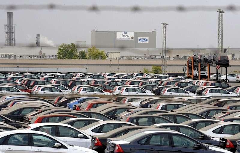 Vista general de la factoría de Ford de Almussafes. EFE