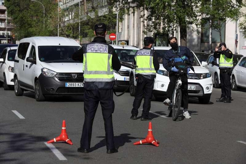 Imagen de archivo de un control policial. EPDA