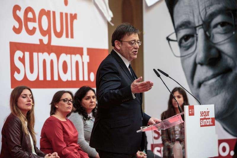 Ximo Puig, en un acto el domingo del PSPV-PSOE. EFE