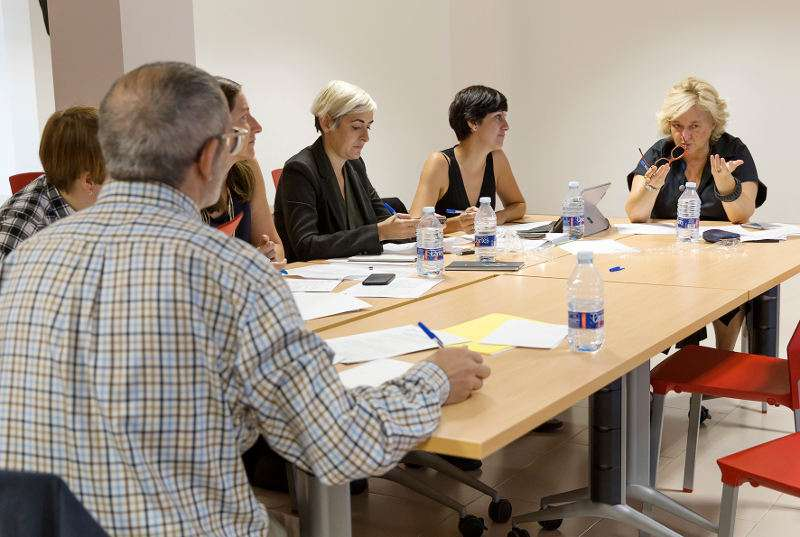 Reunión del jurado de la Biennal Miquel Navarro. EPDA