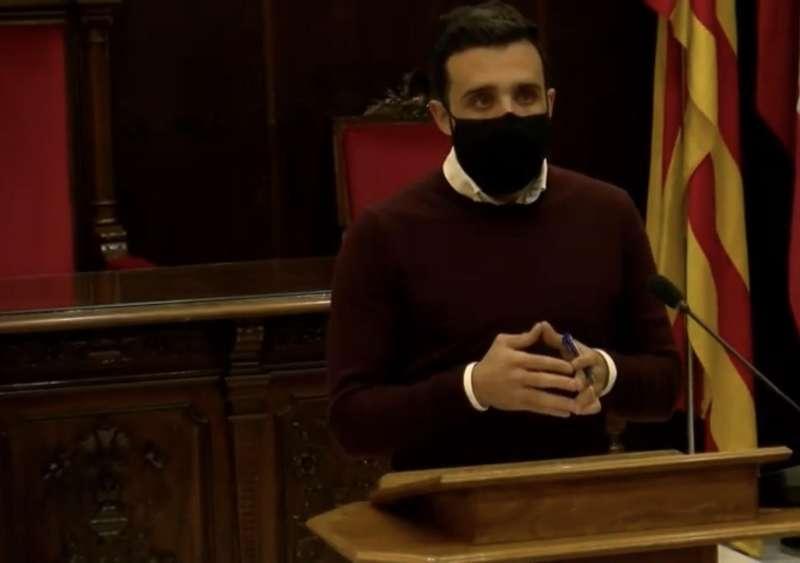 El alcalde de Sagunto, Darío Moreno durante su intervención.